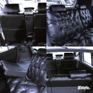 トヨタ bB グラマラス シートカバー 車種専用レザー ブラック シート カバー z-style|carestar|06