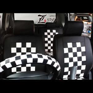 ムーヴカスタム【L175S・L185S】車種専用モノトーンチェックシートカバー|carestar|03