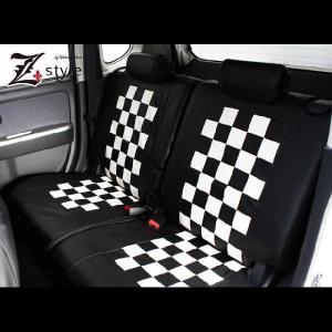 ムーヴカスタム【L175S・L185S】車種専用モノトーンチェックシートカバー|carestar|04