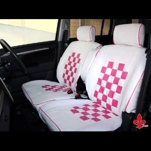 軽自動車汎用★ピンクマニアシートカバー《ホワイト&ピンク》 【汎用シートカバー】|carestar
