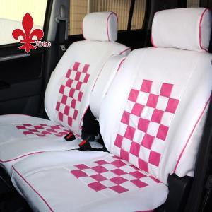 ワゴンRに 軽自動車汎用 ピンクマニアシートカバー ホワイト&ピンク|carestar