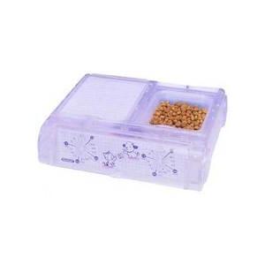 ヤマサ ペット自動給餌器 わんにゃんぐるめ CD-400 クリアー (自動給餌器/給餌器・フードディスペンサー)(犬用品/猫用品・猫/ペット用品)