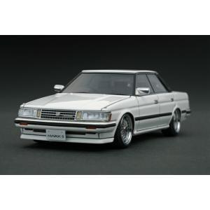 【絶版品】ignition model 1/43 トヨタ マークII グランデ (GX71) 後期型 ホワイト (BBS RSホイール)|carhobby