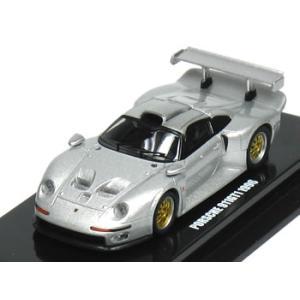 京商 1/64 ポルシェ 911 GT1 1996 シルバー