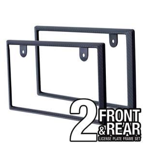 K396 カーボンナンバーフレームセット セイワ カー用品 SEIWA|carlife