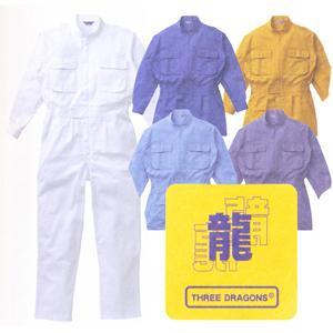 綿100% スリードラゴン印長袖つなぎ #20000 4L・5L 【山田辰・AUTO-BI・長袖・ツナギ】|carnalead