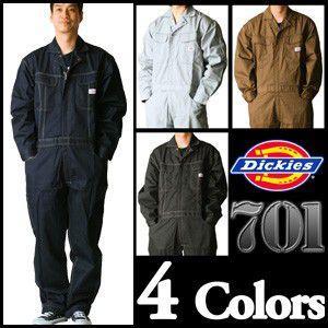 【送料無料】アメリカンテイスト! ディッキーズ長袖つなぎ #701 S〜3L 【Dickies・長袖ツナギ・カバーオール・ロングスリーブ】|carnalead