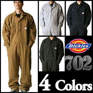【送料無料】ヴィンテージ風 ディッキーズ長袖つなぎ #702 S〜3L 【Dickies・長袖ツナギ・カバーオール・ロングスリーブ】|carnalead