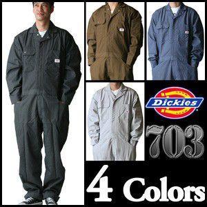 【送料無料】さりげなくストライプ! ディッキーズ長袖つなぎ #703 S〜3L 【Dickies・長袖ツナギ・カバーオール・ロングスリーブ】|carnalead