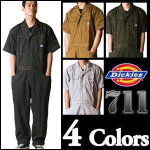 【送料無料】タフな半袖。 ディッキーズ半袖つなぎ #711 S〜3L 【Dickies・半袖ツナギ・ショートスリーブ】|carnalead