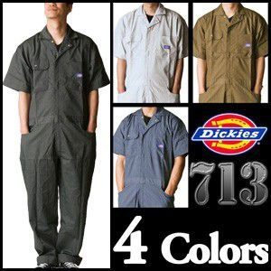 【送料無料】軽快な半袖。 ディッキーズ半袖つなぎ #713 S〜3L 【Dickies・半袖ツナギ・ショートスリーブ】|carnalead