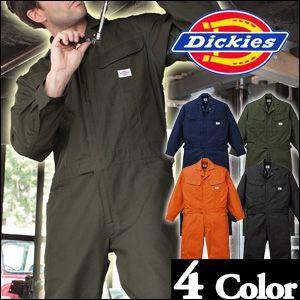【送料無料】ディッキーズ長袖つなぎ #1101 4L・5L 【Dickies・長袖ツナギ・カバーオール・ロングスリーブ・ブッチャー織り】|carnalead
