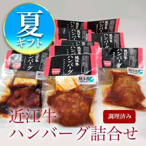 【夏ギフト】近江牛ハンバーグ詰合せ8個入り(デミグラス5個、和風3個)1個120g冷凍|carne-shop
