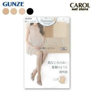 グンゼ サブリナ ストッキング ナチュラルスルー 伝線しにくい シースルー つま先ヌード M L LL 日本製 GUNZE SABRINA パンティストッキング パンスト 靴下|carol-netstore