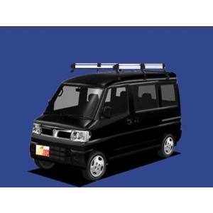 クリッパーリオ U71W ルーフキャリア TUFREQ HH233D ハイクオリティ Hシリーズ 6本足 送料無料 carpart83