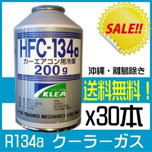 クーラーガス ( エアコンガス ) 新ガス R134a x 30本 送料無料 冷房の効かない車へ