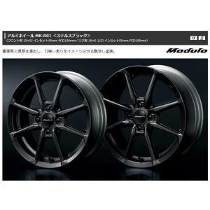 送料無料 S660 アルミホイール MR-R01 ステルスブラック フロント用  Honda純正アクセサリー|carpart83