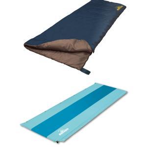 寝袋&マットセット キャンプ シュラフ スリーピングマット カーパーツ アクセス