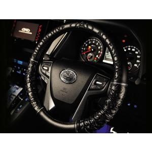 GARSON(ギャルソン) D.A.D ロイヤルステアリングカバー ギャザーエディション タイプ モノグラムレザー ハイエース(TRH・KDH200系) 04.08〜|carparts
