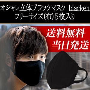 送料無料大人気黒マスク blachen  フリーサイズ(布)5枚入り 活性炭入り 高品質立体マスク 花粉症 pm2.5 風邪 インフルエンザ対策に|carpediem02