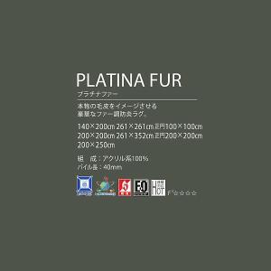 プラチナファー円形ラグマット100×100cm丸毛足の長いラグ carpet-jp 04