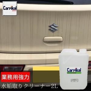 水垢 洗剤 車 ボディ スケール 除去 落とし 落し 取り 汚れ パール ノーコンパウンド 液体 クリーナー エンブレム回り  /業務用 強力水垢取り クリーナー 2L|carpikal360