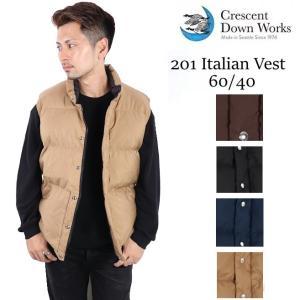(SALE) クレセントダウンワークス CRESCENT DOWN WORKS ダウンベスト ダウン 60/40 ITALIAN VEST 防寒 201 メンズ ダウンジャケット アメリカ製 グースダウン|carre-store