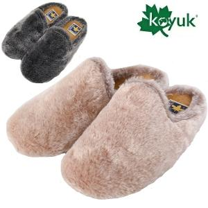 KOYUK コユック カヤック ファー サボ サンダル 靴 レディース ルームシューズ 北欧 ショート コユーク|carre-store