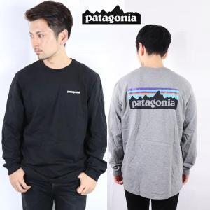 パタゴニア PATAGONIA ロンT 長袖 Tシャツ P-6 LOGO RESPONSIBILI-TEE WHI WHITE BLk Black 正規品 T SHIRTSロゴ レスポンシビリティー|carre-store