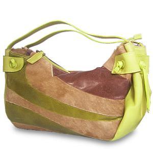ハンドバッグ レディース レディス 本革ポニーレザー×ファー 流線パッチワーク 切り替えレザー イタリア製 PAOLO MASI ブレッザ bag|carron
