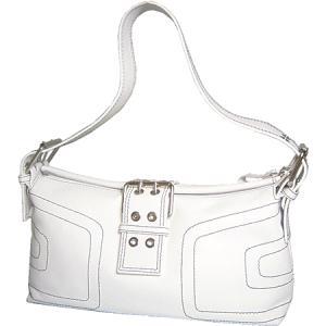 ショルダーバッグ レディース レディス ホワイト 本革レザー イタリア製 Sander's ベルト&ステッチ フィオリトゥーラ bag|carron