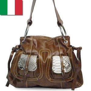 ワンショルダーバッグ レディース レディス パイソン 本革レザー イタリア製 CapoVerso ポルタ・パイソン bag|carron