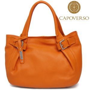 トートバッグ レディース レディス 通勤 本革レザー ショルダーバッグ ベルトプリーツ イタリア CAPOVERSO ヴェロニカ bag|carron