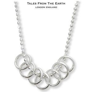 シルバーペンダント レディース ネックレス 幸運の7つの輪 イギリス TALES FROM THE EARTH|carron