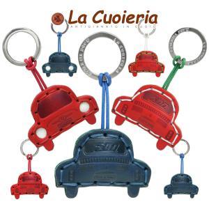 キーリング 車 フィアット FIAT 500 イタリア クラシックカー メンズ Men's キーホルダー レザー レディース レディス おしゃれ La Cuoieria ブランド brand|carron