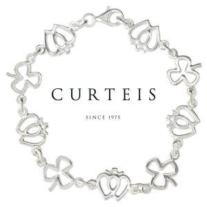 シルバーブレスレット チェーン レディース ケルト紋様 英国ブランド Curteis シャムロック ラッカンブース brand|carron