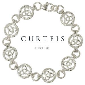 シルバーブレスレット チェーン レディース レディス ケルト紋様 英国ブランド Curteis brand|carron