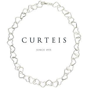 チョーカー ネックレス レディース レディス シルバー ハートチェーン オープンハート 英国ブランド Curteis brand|carron
