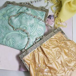 パーティーバッグ レディース レディス がま口 ビーズ 刺繍 結婚式 二次会 Femme de Femmes アルセール bag|carron