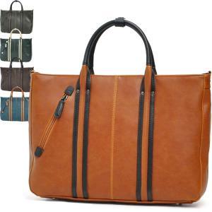 ビジネスバッグ ブリーフケース メンズ Men's 仕事 大容量 バイカラー ヴィンテージレザー調 2WAY VINTAGE 斜め掛け A4 bag|carron