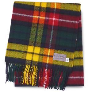 タータンチェック柄マフラー ブキャナン ウール100% 英国スコットランド製 Lochcarron of Scotland|carron