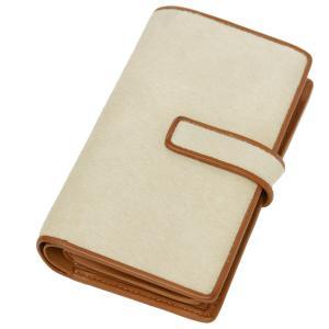 二つ折り財布 本革 レディース レディス 手帳型 イタリア名門タンナーABIP 高級ハラコレザー|carron