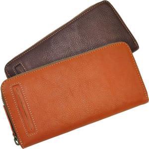 ラウンドファスナー長財布 レディース レディス 表面カードポケット付 ベジタブルレザー 全3色|carron