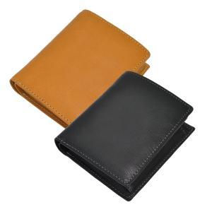 二つ折り財布 メンズ Men's レディース レディス ボックス型小銭入れ付 ベジタブルレザー 全3色|carron