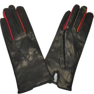 手袋 レディース 防寒 革 皮 てぶくろ あったか 暖かい レザー ウール 本革 革手袋 皮手袋 マルチカラーイタリア AntonioMurolo|carron