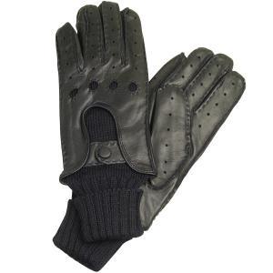 メンズ ドライビンググローブ 革手袋 紳士用 本革 ナッパレザー ウール コンビ イタリア製 AntonioMurolo|carron