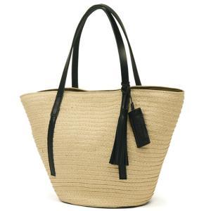 かごバッグ レディース レディス トートバッグ 軽量 ペーパー パナマ風 レザーハンドル Anti-Forme Design マリエル bag|carron