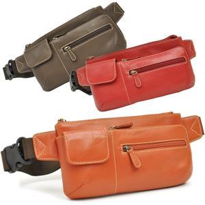 ウエストポーチ レディース レディス おしゃれ 軽量 本革 シンプル ヒップバッグ メンズ Men's ボディーバッグ bag|carron