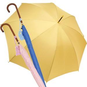 傘 レディース 長傘 長い 細い 細巻き 細身 日本製 スリム 雨傘 ウッドハンドル タッセル付 Nouvel Japonais|carron
