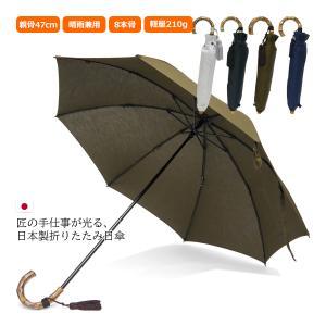晴雨兼用折りたたみ傘 8本骨 丈夫 日傘 レディース レディス 軽量 日本製 おしゃれ 雨傘 UV コットンピケ スライドショート バンブーハンドル タッセル|carron
